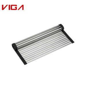 High Quality SUS#304 Stainless Steel Anti-rust Kitchenware Drain Grid In Brush Nickle