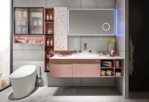 Bathroom Cabinet New Products | Rarely Seen In Pink, It Romantic Index 100%!
