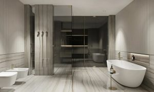 A Light And Luxurious Marble Bathroom. It Is The Most Attractive Bathroom Design Style!
