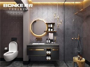 Bunker Whole House Customization   The Neutral Gray In The Bathroom Hides The High Quality Of Home